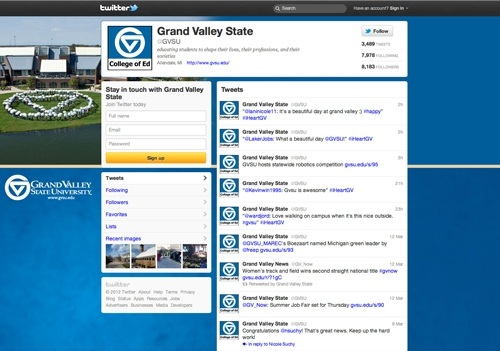 Compliant Twitter Page Example
